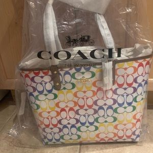 COACH Reversible City Tote - PRIDE collection